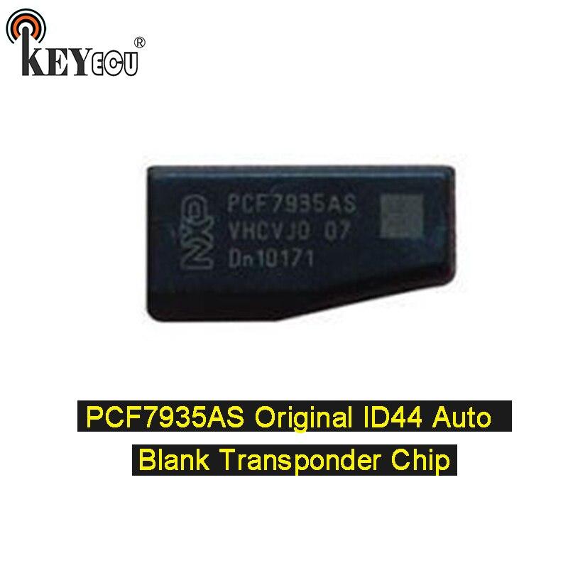 KEYECU 1x/ 2x PCF7935AA оригинальный идентификационный дисплей 44 пустой чип транспондера для Авто Автомобильный ключ карбоновый чип (PCF7935AS обновленн...