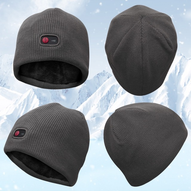7.4V Winter heating hat ski riding climbing,hiking,hunting ice-fishing outdoor sports heating male and female universal hat 4