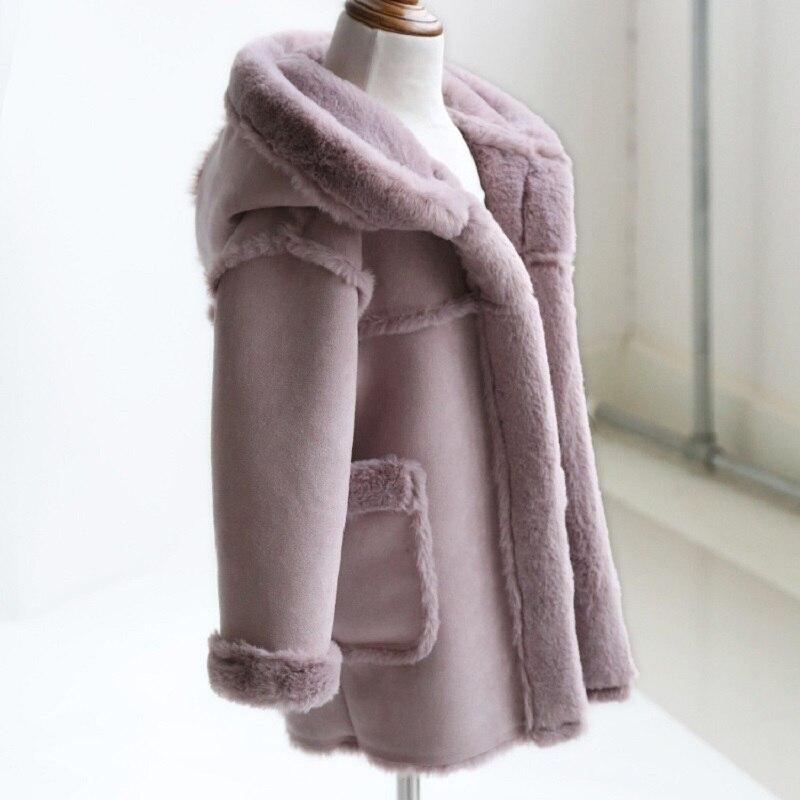 JKP детская одежда Зимняя Детская меховая куртка для мальчиков кожаная одежда для девочек Меховая куртка толстые теплое пальто из хлопка FPC-45