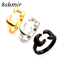 2016 design fashionable mens ring atmospheric contracted couples movement Opening couple rings for men and women
