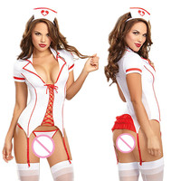 New 2017 Sexy Nurse Costume Erotic Costumes Role Play Women Erotic Lingerie Female Sexy Underwear Red