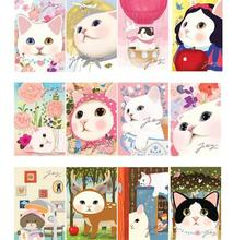 5pcs/lot vintage Cute Cats choo Postcards group cartoon Christmas Card/Greeting Card/ Postcard Gift(China)