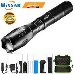 EZK20 дропшиппинг T6 светодиодный ручной тактический фонарь 8000лм зум-фонарь для кемпинга лампа для 18650 перезаряжаемая батарея AAA
