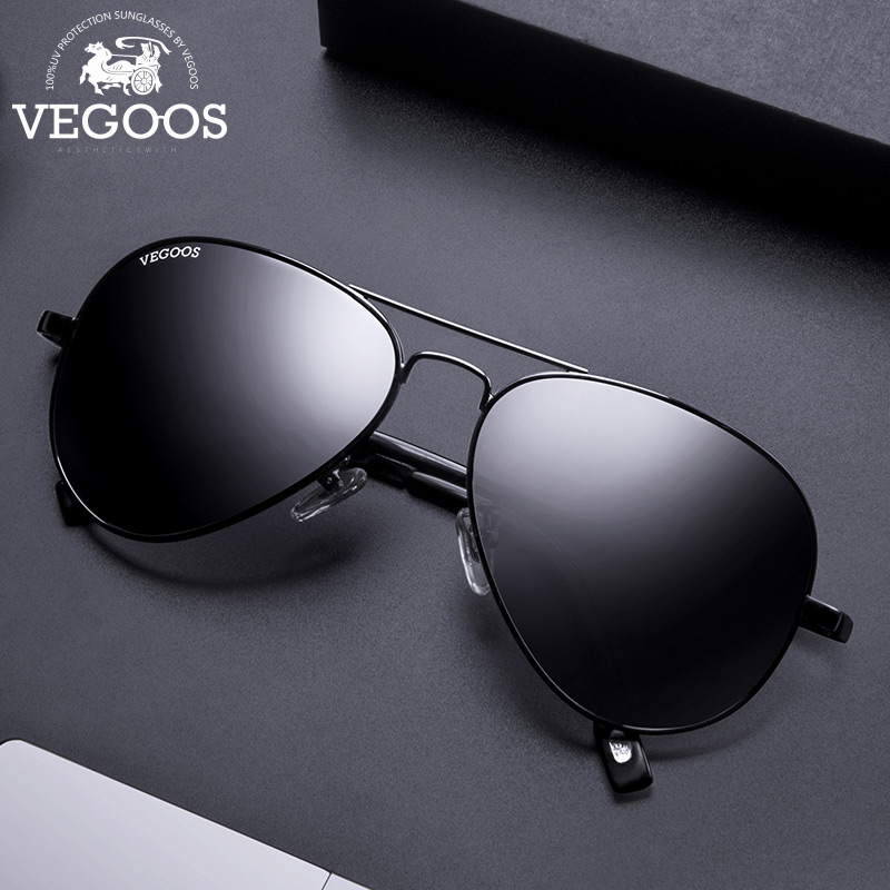 VEGOOS Brand Design Polarized Cool Men Pilots Sunglasses UV Protect Sun Glasses Pilot Big Frame Size