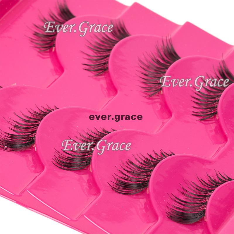 ICYCHEER 5 Pairs Handmade Extension Fashion Half Eye Lashes Mini Corner Eyelashes Natural