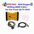 Keygen Apoio MVD 2016 Ano WOW Presente 5.00.8 MVDiag Com Bluetooth CAR Ferramenta De Diagnóstico TCS CDP Veículo Multi Diag Livre grátis