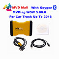 Keygen Gift MVD Support 2016 Year WOW 5.00.8 MVDiag With Bluetooth CAR Diagnostic Tool TCS CDP Multi Vehicle Diag Free Shipping