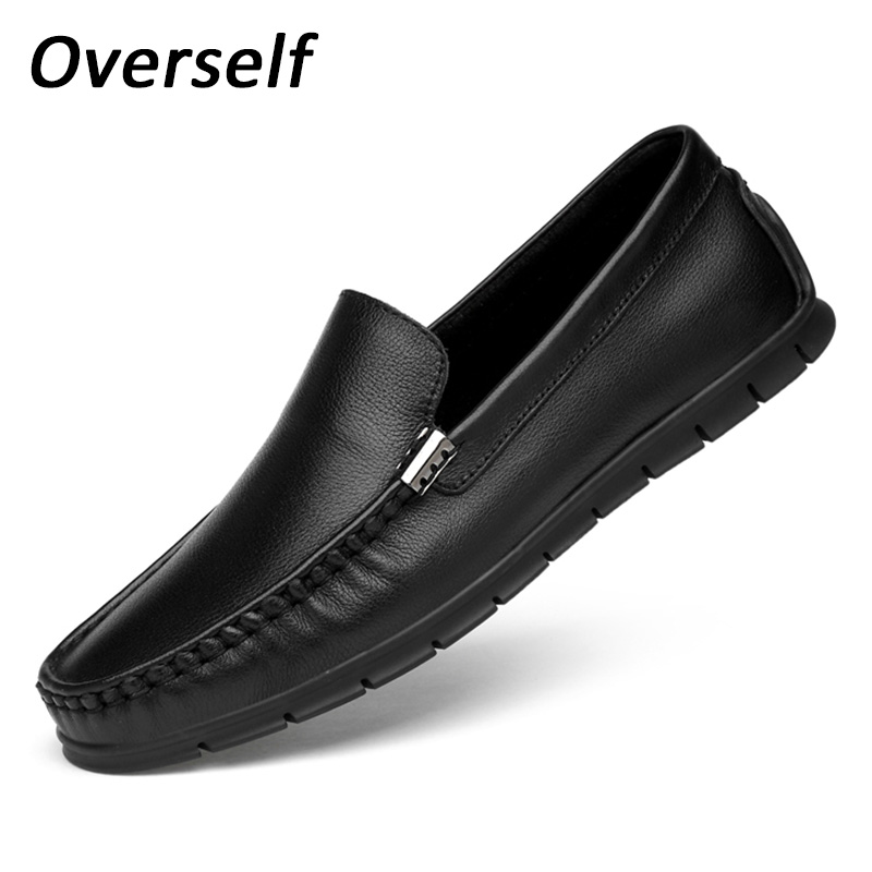 2018 Handmade Moccasins For Men Soft Genuine Leather Loafers Fashion White Casual Shoes Slip On Men's Boat Shoes Plus Big Size cbjsho british style summer men loafers 2017 new casual shoes slip on fashion drivers loafer genuine leather moccasins
