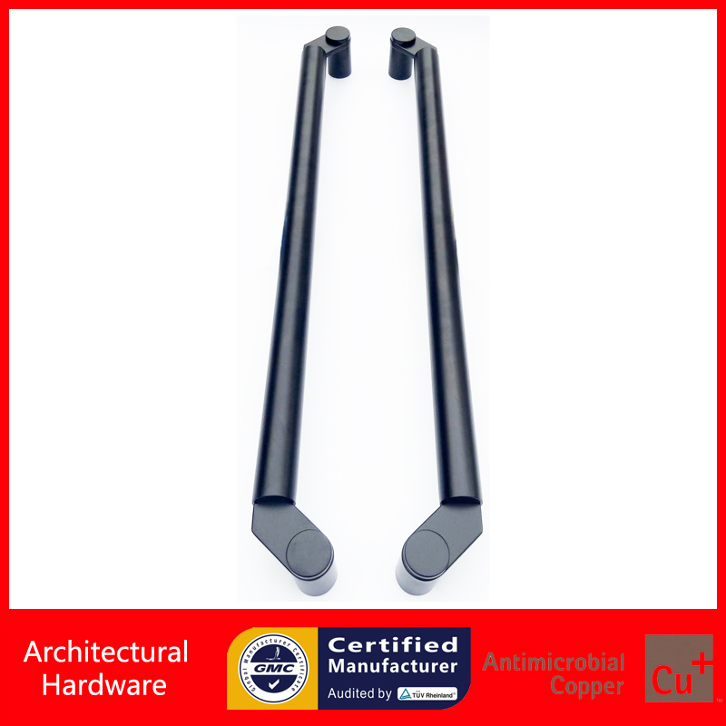 304 Grade Stainless Steel Black Pull Handle Entrance Door Handles For Wooden/Glass/Metal Doors PA-135-38*800mm modern entrance door handle 304 stainless steel pull handles pa 104 32 1000mm 1200mm for entry glass shop store big doors