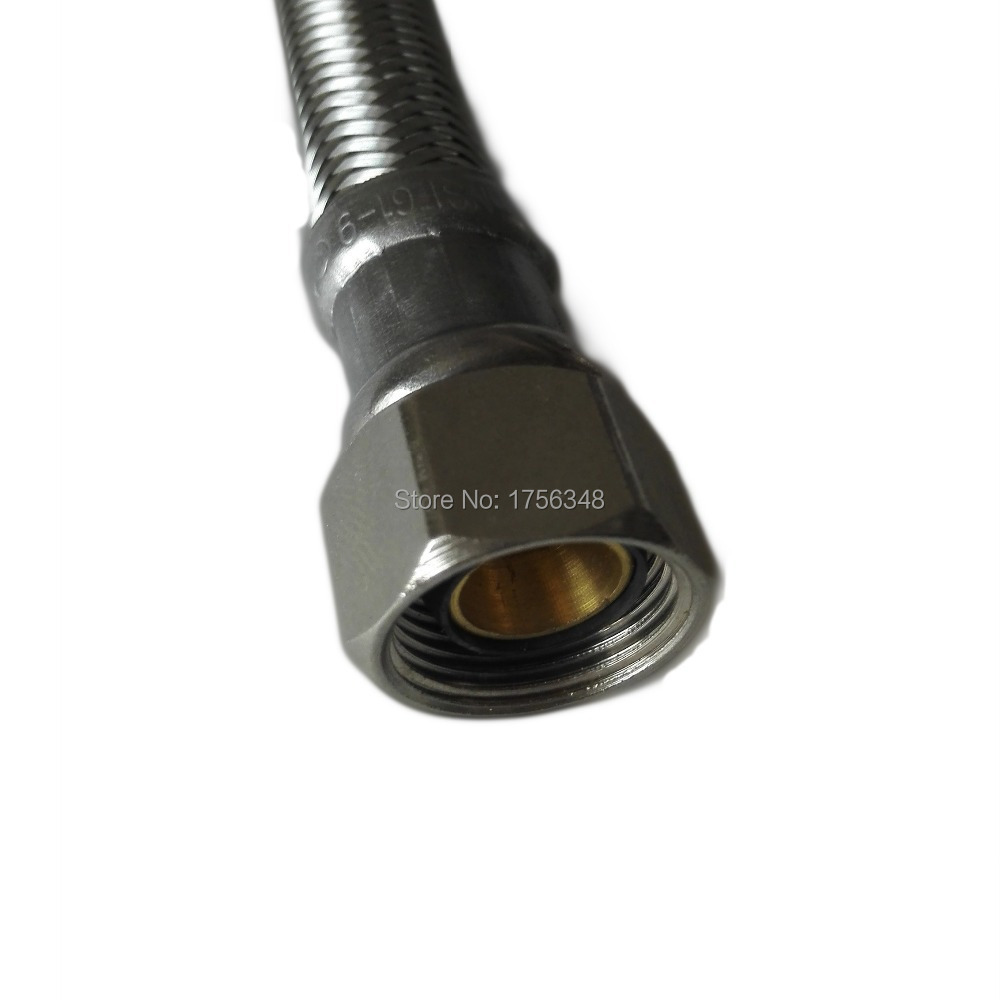 LF15012-60inch 3/8C*3/8C with EPDM Inner tube Flexible SS Diswasher Connector & SS braided connector