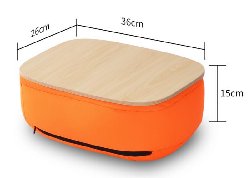 36*26*15 CM petit bureau d'ordinateur Portable Portable table de plateau de coussin souple
