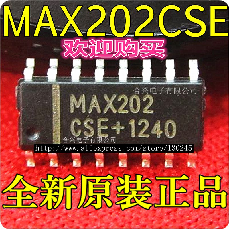 Active Components Integrated Circuits Open-Minded 10pcs/lot Max202cse Max202 Cse Sop-16 Rs-232 Interface Ic 5v Rs-232 Tcvr W/0.1uf External Cap New Original In Stock Easy To Repair