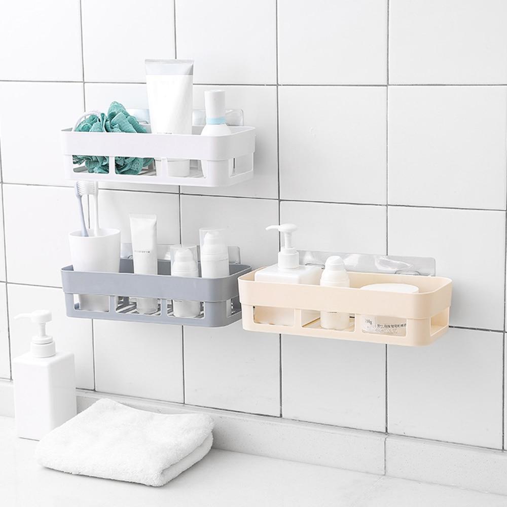 Bathroom Shelf Adhesive Badkamer Rek Storage Rack Corner Shower Shelf Kitchen Home Decoration Bathroom Accessories