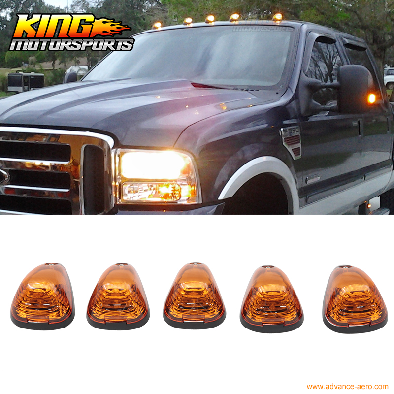 Fit Ford/Dodge Truck Triangle Yellow Lens Top Led Cab Roof Lights 5Pcs Set USA Domestic Free Shipping Hot Selling for 2004 2008 ford f150 chrome vertical front hood grill grille usa domestic free shipping hot selling
