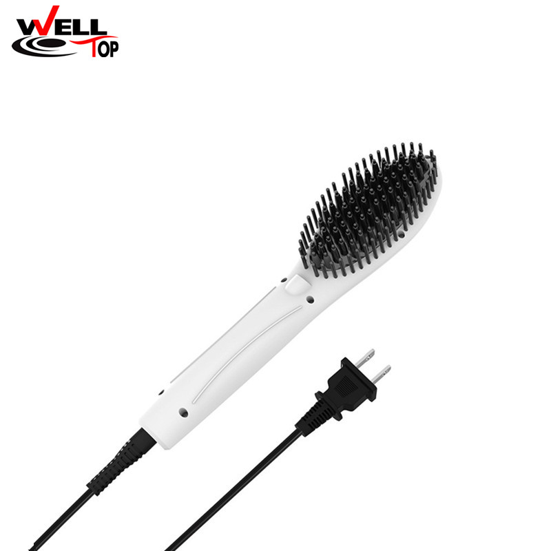 2017 Digital Electric Hair Straightener Brush Comb  Hair Care Styling Tools Combs Rechargeable Cordless Hair Straightener hair care hight quality real ebony black comb 1 piece health care hair styling tools hair brushes best gift