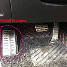 купить FIT All Hyundai KIA Footrest Foot Rest Pedal Pad Accessory For Elantra Mistra Sonata Tucson Santa Fe Accent 1Pc NO Drill Steel онлайн
