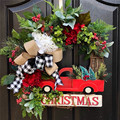 12inch American simulation Christmas Berry wreath Wall hanging Garland Front Door Wreath Housewarming Wedding decoration Gifts
