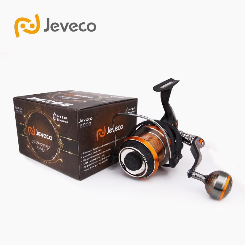 Jeveco 8000 Spinning Fishing Reel, Saltwater Reel Carbon Fiber 5.1:1 9+1BB Reel Fishing, , Extremely Stronger For Sea Fishing\ professional spinning fishing reel
