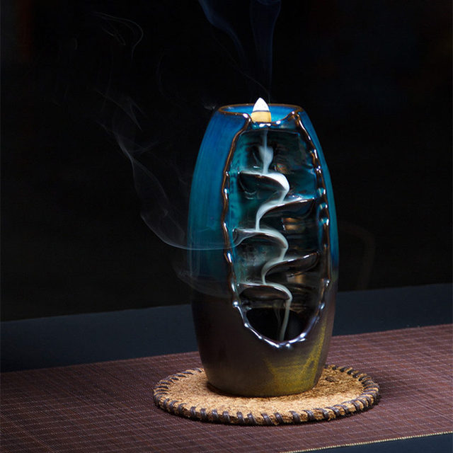 Blue and brown, free giving 10 incense cones