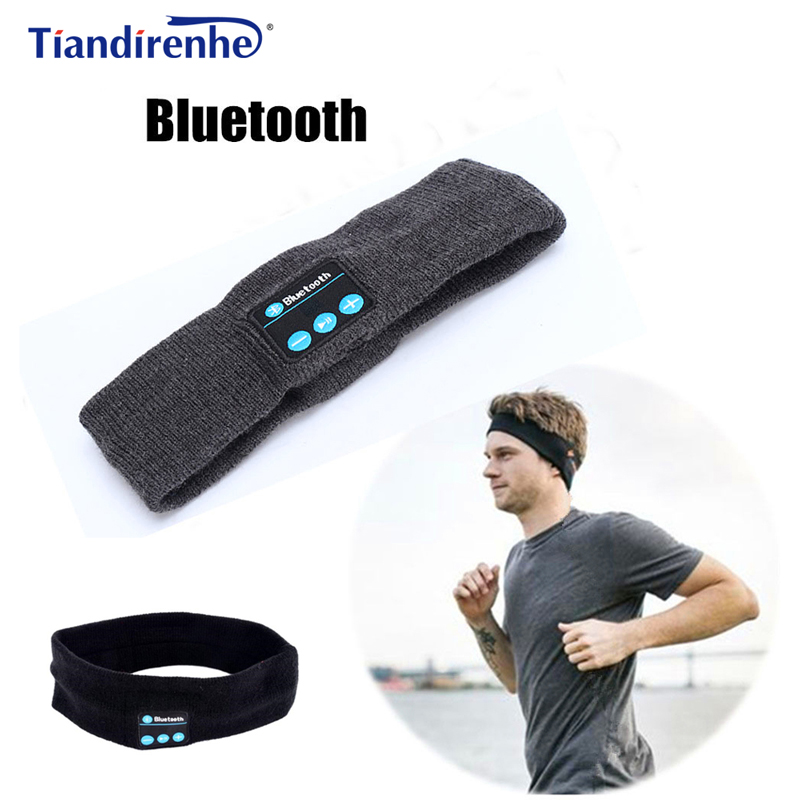 Tiandirenhe Wireless Bluetooth Headphone Sleep Headband Hat Soft Warm Sports Smart Cap Smart Speaker Stereo Headset with Mic wireless bluetooth music beanie cap stereo headset to answer the call of hat speaker mic knitted cap