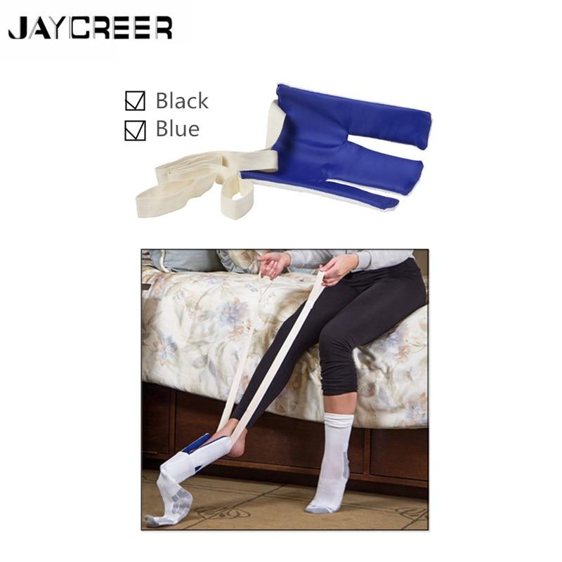 Jaycreer Socke Hilfe Und Strumpf Unterstützen Einfach Putting Up Ein Seien Sie In Geldangelegenheiten Schlau Flexible Kunststoff W/terry Abgedeckt Nicht-slip Widerstand Oberfläche