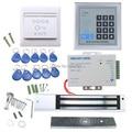 Completa RFID porta sistema de controle de acesso Kit Set elétrica fechadura magnética + porta controle de acesso de alimentação + proximidade entrada teclado