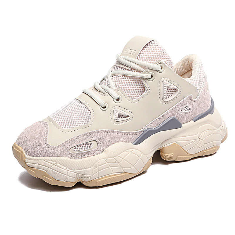 2019 Brand Spring Fashion Women Casual Dad Shoes Mesh Platform Shoes Woman  Chunky Sneakers Ladies White 7480aa6daf31