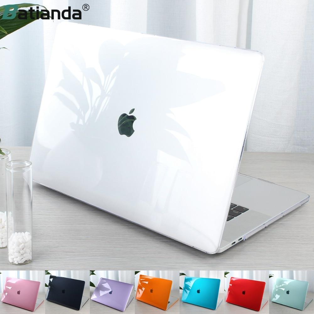 Bolsa Para Laptop PC Caso de cristal Para Macbook Pro Caso TPU Tampa Do Teclado para Macbook Pro de 15 13 2019 2018 2017 a1706 A1989 A1707 A2159