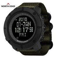 北エッジワールドタイム男性スポーツ軍は防水 50 30m デジタル水泳時計ダイビング腕時計モンタオム