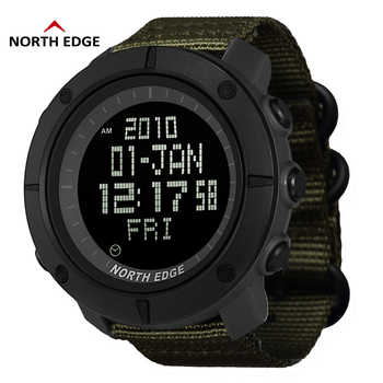 NORTH EDGE World Time Men Sports Army Watches Waterproof 50m Digital Watch Running Swimming Clock Diving Wristwatch Montre Homme - DISCOUNT ITEM  50% OFF All Category