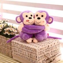 New stuffed animal 20 cm pair lovely hug sweetheart monkey plush font b toys b font