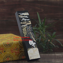 Chinese Ttraditional Painting Ink Stick Song Yan Solid inks Anhui oldhukaiwen Hui Mo calligraphy ink pine-soot
