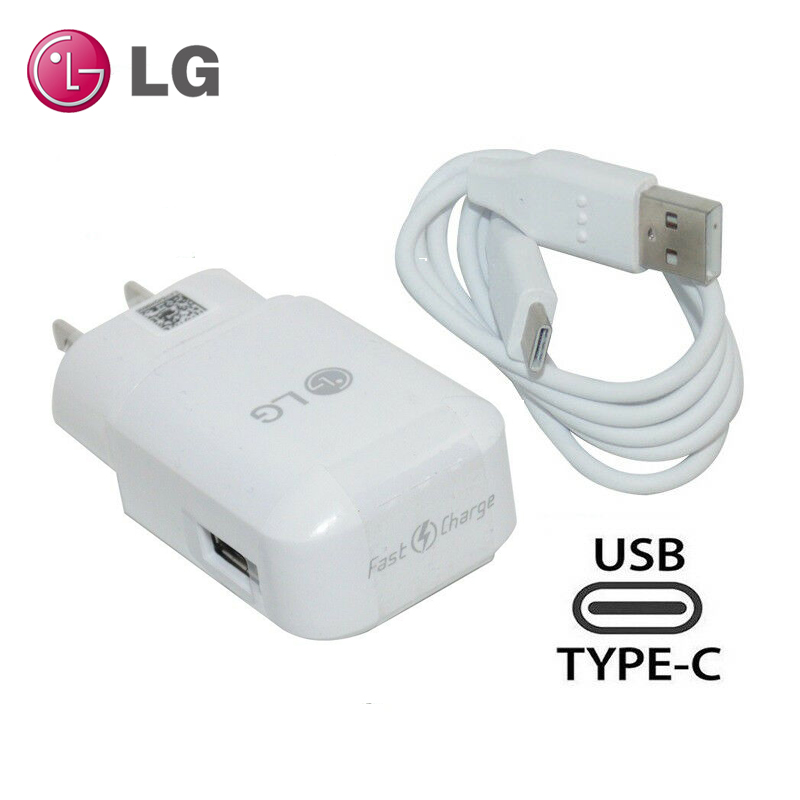 Original LG G5 US Plug Fast Travel Wall Charger With Type C USB Date Cable For LG G5 V30 V20 G6 F800 F700 H860N H990N MCS-H05WD