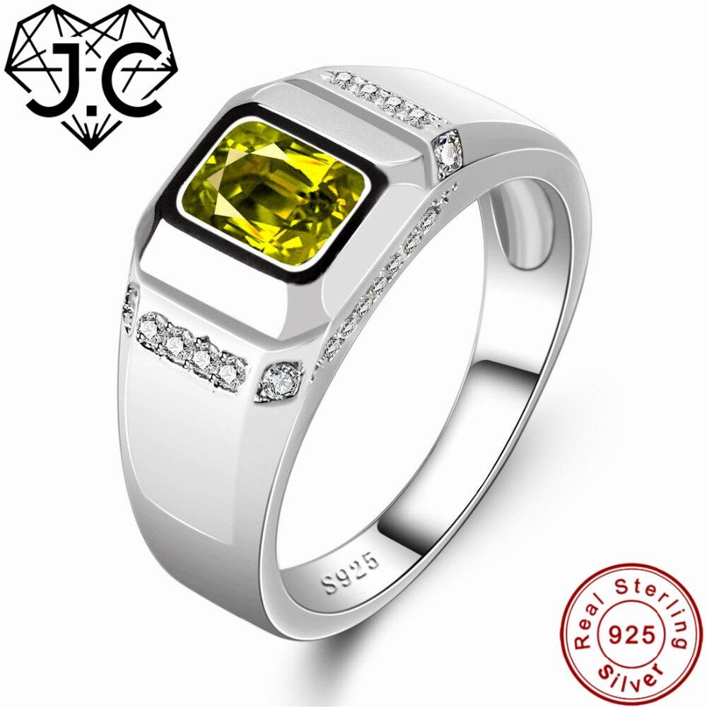 735834a296da J.c Joyería fina encanto peridoto y topacio blanco sólido 925 anillo de plata  esterlina tamaño 6 7 8 9 para las mujeres  los hombres mejor regalo de ...