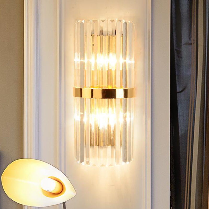 Modern LED crystal wall lamps Art Deco bedroom bedside crystal wall sconces corridor parlor TV backgound decorative porch lights indoor modern crystal wall sconces art deco bedroom wall light bedside lamps led wall lights for home wall sconce crystal lamp
