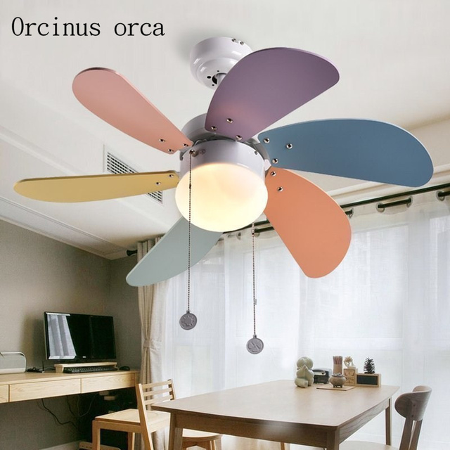 Moderne creatieve kinderen plafond ventilator lamp eenvoudige ...