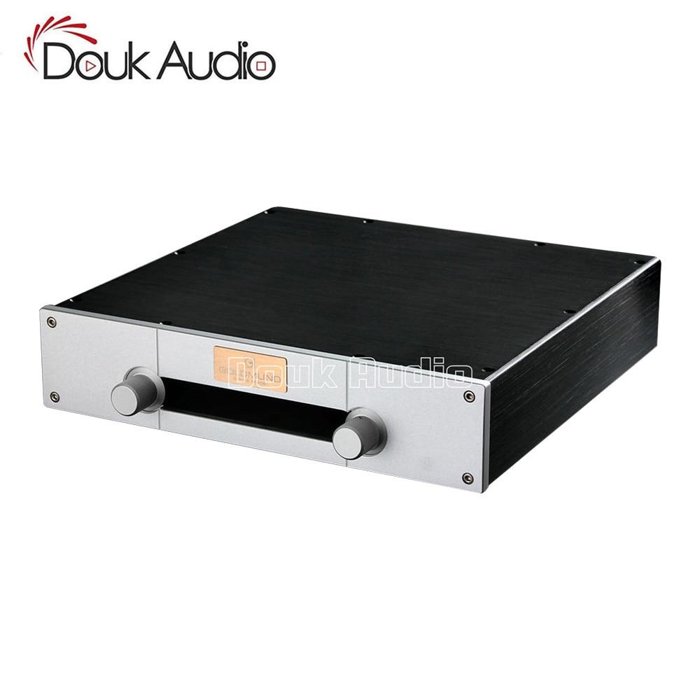 Douk Audio Preamplifier Chassis Aluminum Enclosure DIY Cabinet Silver Panel W320 H70 D300mm
