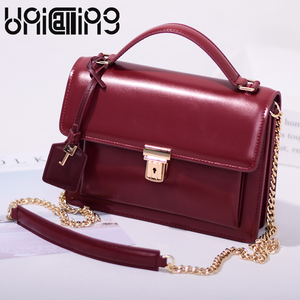 2017 Fashion All-match Retro Split leather women bag Top grade Small shoulder bags multilayer mini Chain women messenger bags fashion matte retro women bags cow split leather bags women shoulder bag chain messenger bags