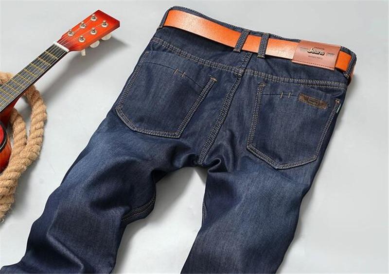 Brand New Mens Fleece Fodrade jeans, Mode Varm jeans Höst Vinter - Herrkläder - Foto 4