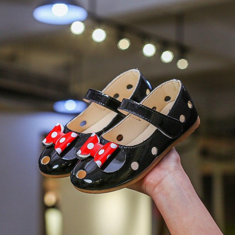 Princess Shoes Sandals Loafers Korea-Hole Girls Little Kids Child Mickey-Minnie Cartoon