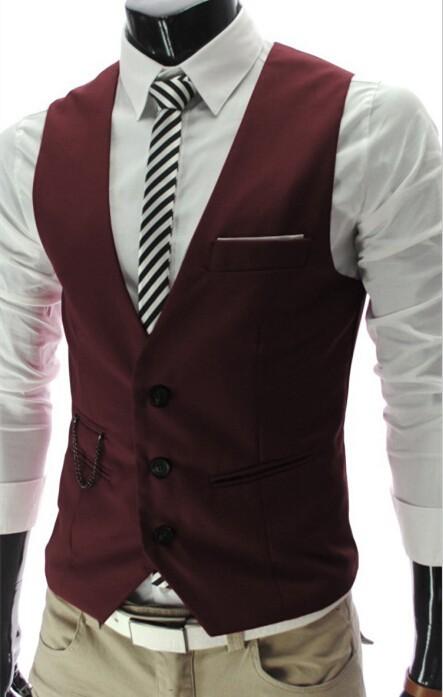 2019 New Arrival Dress Vests For Men Slim Fit Mens Suit Vest Male Waistcoat Gilet Homme Casual Sleeveless Formal Business Jacket 8