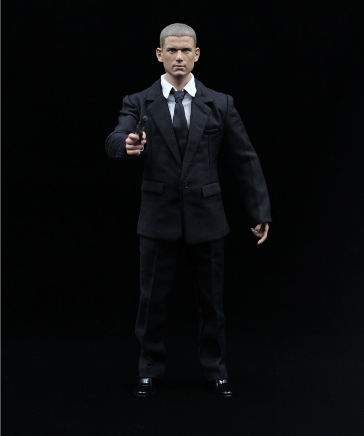 1/6 Prison Break Michael Coffield Full Set Action Figure Wentworth Miller Head & Body & Suit Weapon Accessories Model Collection 1 6 soldier action figure the dark zone agent renegad model accessories full set figures
