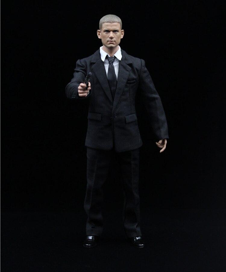 1/6 Prison Break Michael Coffield Full Set Action Figure Wentworth Miller Head & Body & Suit Weapon Accessories Model Collection