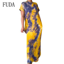 FUDA Summer Women O-neck Short Sleeve Maxi Dress Sexy Bohemian Beach Vintage Female Clothing Brand Vestidos De Festa