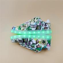 Luminoso Led 2017 Unisex Tamaño 32-44 Moda hombres Ocasionales zapatos de mujer zapatos De Póquer Ilumina Tenis Zapatos con Brillantes suela