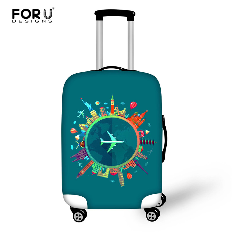 FORUDESIGNS Travel Thicken Elastic Color Luggage Suitcase Protective Cover Apply to 18 30inch Cases Travel Accessories in Travel Accessories from Luggage Bags