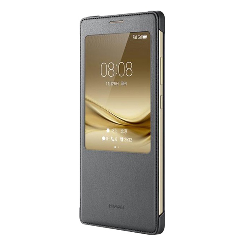 Image 2 - Huawei Original Smart Phone Case View Cover Flip Case For Huawei Mate8 Mate 8 Housing Sleep Function intelligent Phone Case-in Flip Cases from Cellphones & Telecommunications