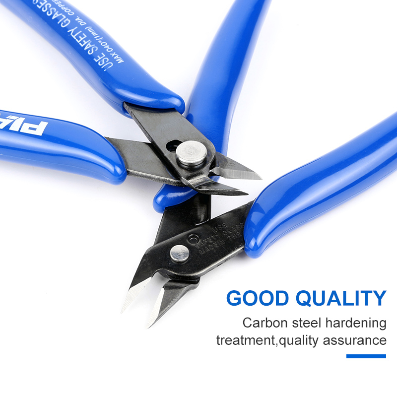 1pc Blue Handle Diagonal Plier Electrical Wire Cable Cutters Cutting Side Snips Flush Pliers Nipper Hand Tools Kit in Pliers from Tools