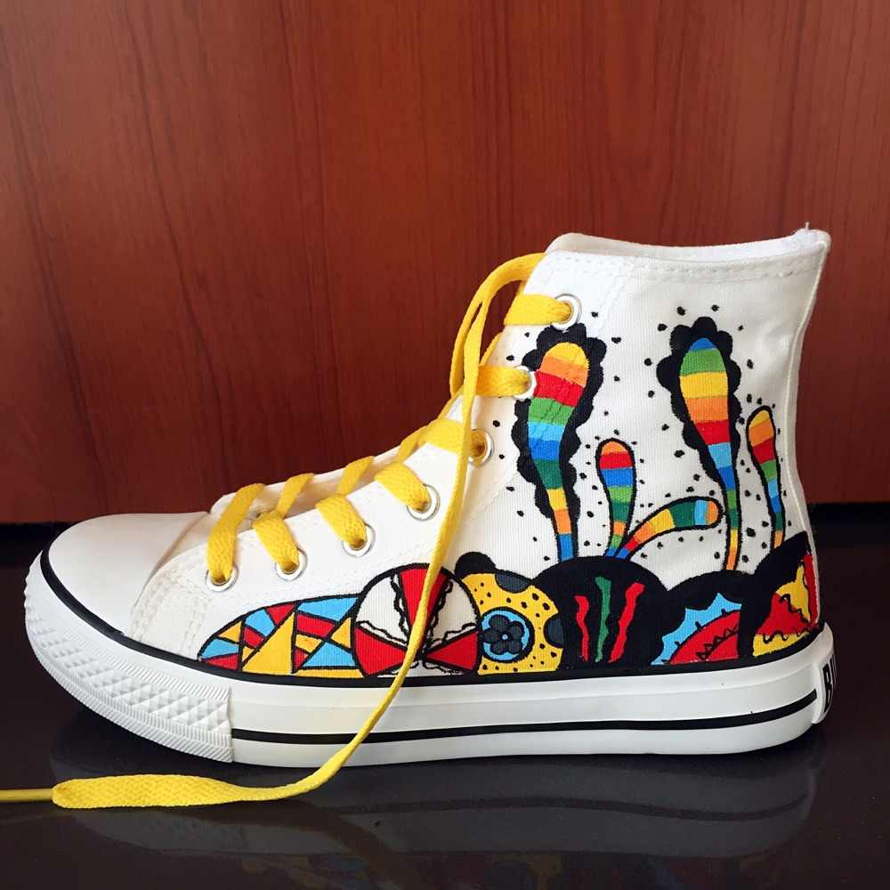 Women\u0027s Shoes Fashion Design 2018 Summer Doodle Casual Shoes Autumn Female  Hand Painted Canvas Shoes Trend Girl Sneakers Zapatos