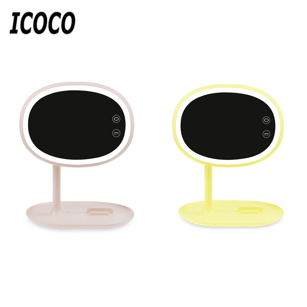 ICOCO led makeup light Mirror Cosmetic table Lamp USB touch tact switch Bedroom Lamps Adjustable Phone holder Bracket Xmas Gift